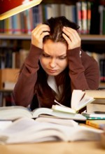 teen girl having trouble with schoolwork