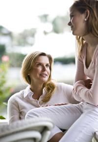 mother daughter talking