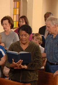 in church service