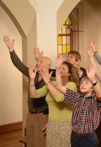 lifting hands to god