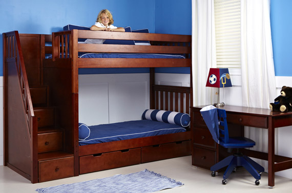 maxtrix staircase bunk bed with desk