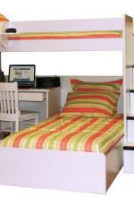 utica loft desk twin over twin bed