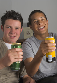 underage teen boys drinking beer