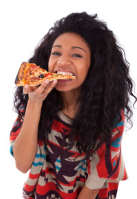 pizza loving teen girl