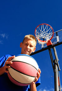 teen boy basketball player