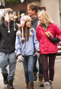 winter family stroll