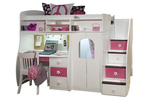 hideaway loft bed with built in desk