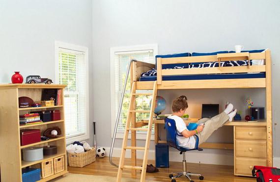 maxtrix high study loft natural wood